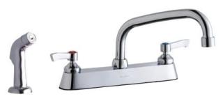 "Elkay LK811AT08L2 1/2"" 1.5Gpm Chrome 8"" Center 2-Handle Kitchen Faucet"