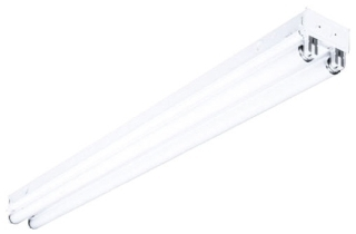 CS4232EU 2 LIGHT 4 FOOT 32 WATT T8 120/208/240/277 VOLT ELECTRONIC BALLAST STRIP FLUORESCENT FIXTURE WITHOUT LAMPS QTY 1