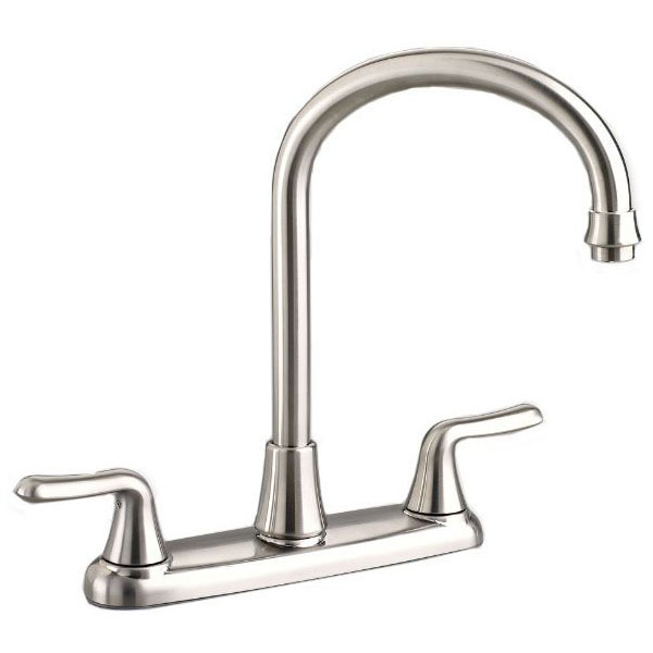 A/S 4275.550.002 COLONY SOFT GOOSENECK KITCHEN FAUCET, LESS SPRAY 2 HANDLE