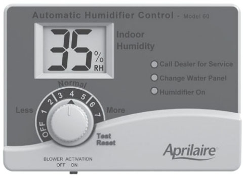 APRILAIRE #60 AUTOMATIC DIGITAL HUMIDIFIER CONTROL (REPLACES #58)