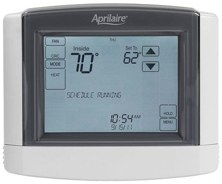 APRILAIRE 8600 UNIVERSAL TOUCH SCREEN, MULTI-STAGE 2H/2C OR 4H/2C HEAT PUMP, DUAL POWERED