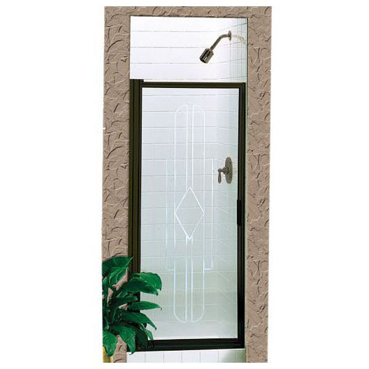 //WSL// BASCO 100-AK PIVOT DOOR FOR (S-36) OBSCURE GLASS, SILVER FRAME *** WILL NOT WORK ON KDS-36 ***