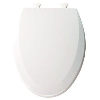 BEMIS 1500EC-000 EL *CFWC* WHITE WOOD TOILET SEAT W/EASY CLEAN & CHANGE HINGE ** MADE IN USA ** MC277608