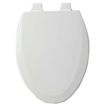 BEMIS 1500TTT-000 EL *CFWC* WHITE WOOD TOILET SEAT ** MADE IN USA MC334359