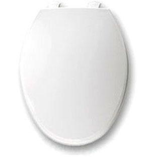 BEMIS 1800EC-000 EL *CFWC* WHITE PLASTIC TOILET SEAT W/EASY CLEAN & CHANGE HINGE