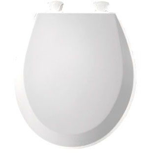 BEMIS 500EC-000 RF *CFWC* WHITE WOOD TOILET SEAT W/ EASY CLEAN & CHANGE HINGE **MADE IN USA** MC279545