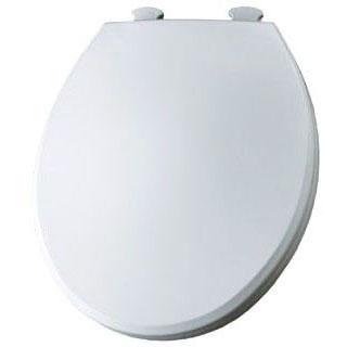 BEMIS 800EC-000 RF *CFWC* WHITE PLASTIC TOILET SEAT W/EASY CLEAN & CHANGE HINGE ** MADE IN USA **
