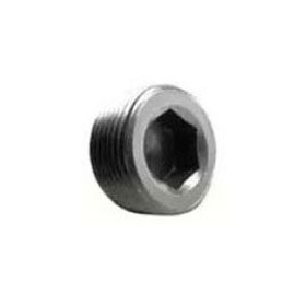 STD BLK PLUG HEX CSK STEEL 1/4