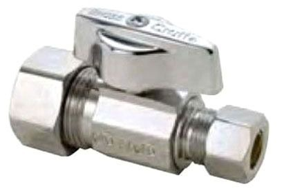 BRASSCRAFT (LFC) KTCR14X C KWIK TURN STAIGHT STOP 1/2 NOM COMP X 3/8 OD COMP *** LEAD FREE COMPLIANT *** ** MADE IN USA ** MC325626