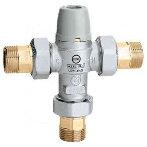 "CALEFFI 521352A LF 3/4"" NPT MIXING VALVE W/ SCALD PROTECTION"