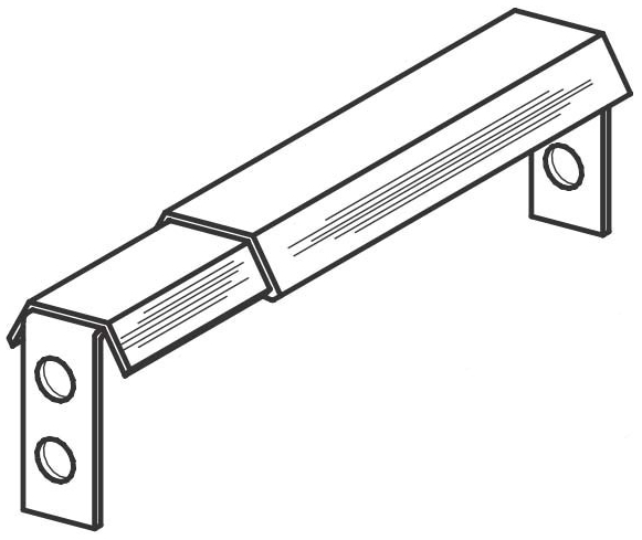 (BOX) BASSET AT-125 BRACKET (SCREW TABS AT ENDS FOR