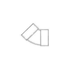 CHARLOTTE 1321 SCH.30 PVC 1/8 BEND 45 ELBOW 3