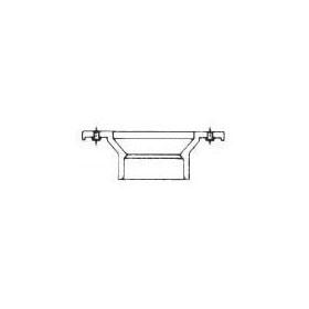 CHARLOTTE PVC DWV #800-KO 4X3 CLOSET FLANGE W/ KNOCKOUT (03705)