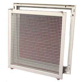 CONTINENTAL ECFGW2222TB106 20x20 EGG CRATE FILTER GRILLE FOR T-BAR CEILING WITH MOLDED FIBERGLASS PLENUM ATTTACHED (ECFGW2020TB106)