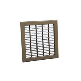 CONTINENTAL F25B0414 4x14, BAR-FACED FLOOR RETURN AIR GRILLE BROWN