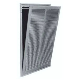 "CONTINENTAL FG3W2424 24x24, 1/3"" SPACED LOUVERS FILTER GRILLE WHITE"