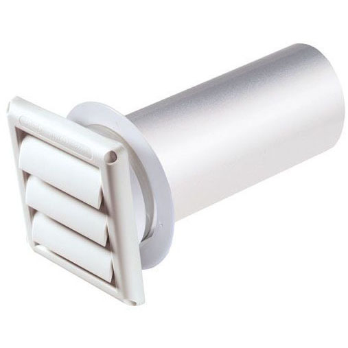 "DEFLECTO SVHAW6 6"" DRYER VENT HOOD LOUVERED WHITE"