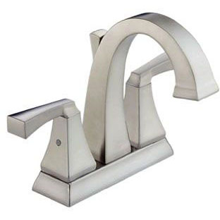 DELTA 2551-SSMPU-DST BRILLANCE STAINLESS DRYDEN 2 HANDLE CENTERSET (REPLACES 2551LF-SS) *** LEAD FREE COMPLIANT ***