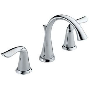 """DELTA 3538-MPU-DST LAHARA CHROME 3-HOLE 4""""-16""""CC WIDESPREAD LAV FAUCET INCLUDES TWO HANDLES (REPLACES 3538LF)"""
