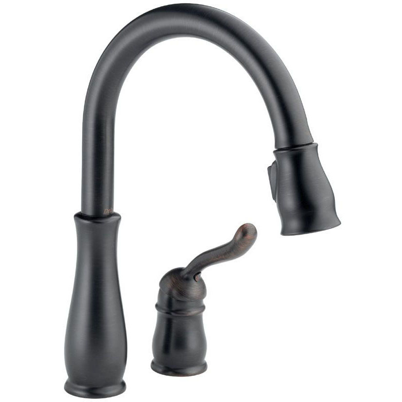 DELTA 978-RB-DST VENETIAN BRONZE LELAND PULL-DOWN KITCHEN FAUCET WITH MAGNA-TITE DOCKING