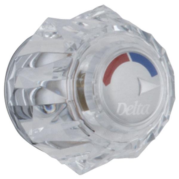 DELTA H71 CLEAR KNOB HANDLE CHROME