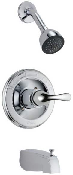 DELTA T13420 CHROME CLASSIC SHOWER & TUB TRIM ONLY INCLUDES CARTRIDGE AND LEVER HANDLE