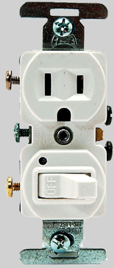 DIVERSITECH 620-274W SWITCH / PLUG COMBO WHITE (TR274W) MC289042