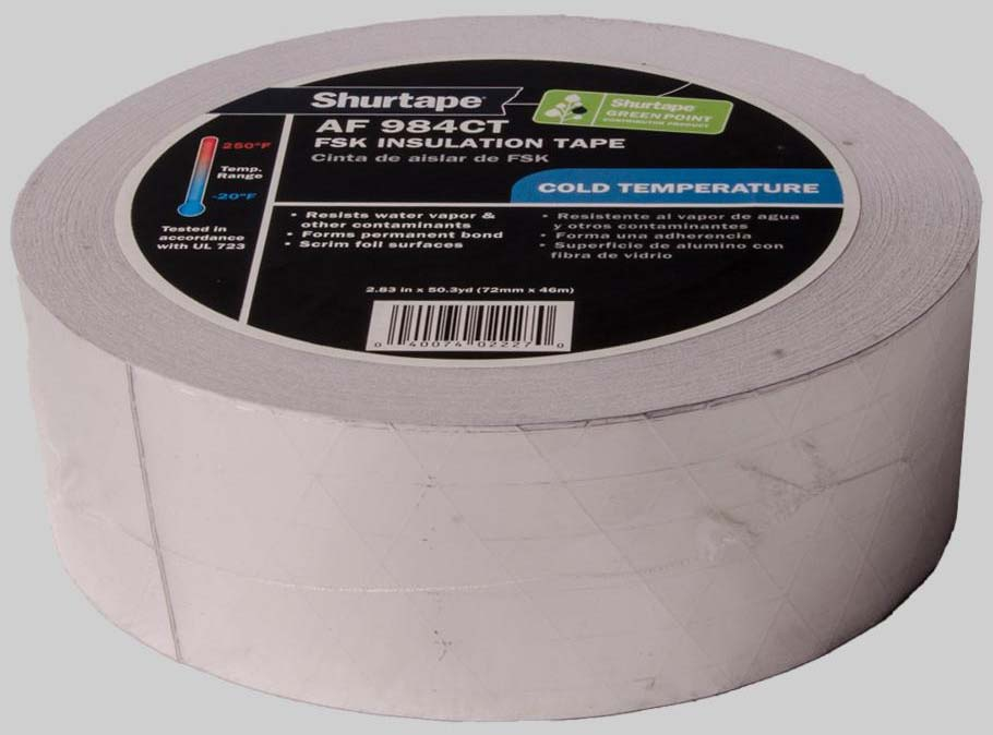 NASHUA FSK 3X50YD FOIL SCRIM KRAFT TAPE (REINFORCED) (652009B) (1525) (DESIGNED TO SEAL FOIL-SCRIM-KRAFT (FSK) FACED FIBERGLASS DUCT BOARD AND PIPE INSULATION) MC36772