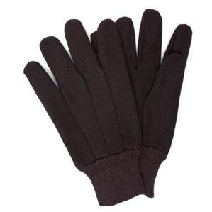BROWN JERSEY GLOVES (PR) J124-UNTAG 9OZ