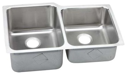 ELKAY ELUH3120-R DB UNDERMOUNT SS KITCHEN SINK SMALL ON RIGHT