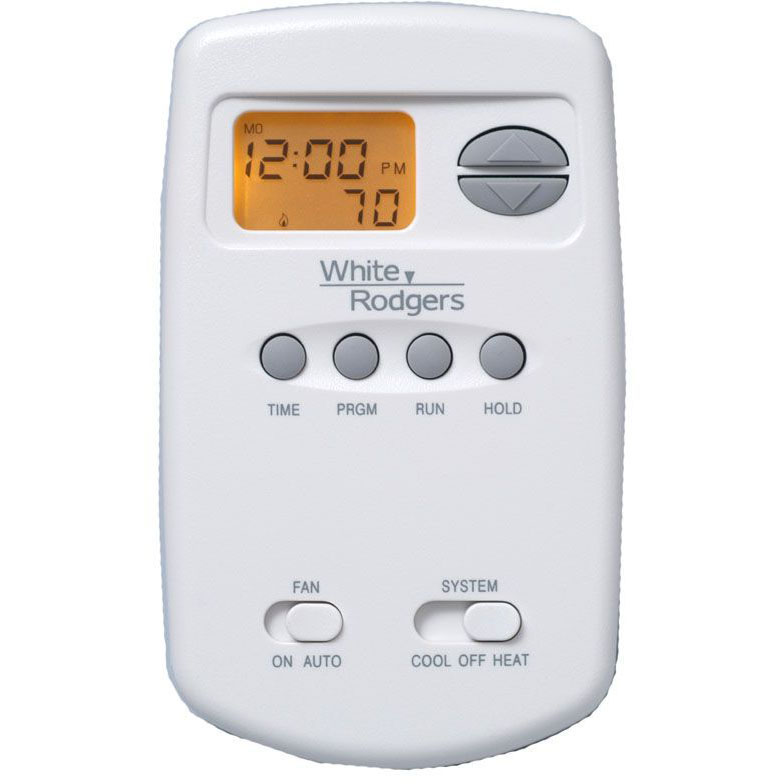 WHITE RODGERS 1E78-151 T-STAT, PROGRAMMABLE 5-2, 1H/1C, BATTERY, VERTICAL