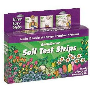 ETS 571802 ACCUGROW TEST STRIP FOR SOIL pH, NITROGEN, PHOSPHOROUS & POTASSIUM 10/KIT