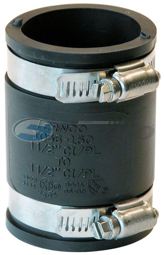 FERNCO 1056-150 COUP CI-PLASTIC 1-1/2