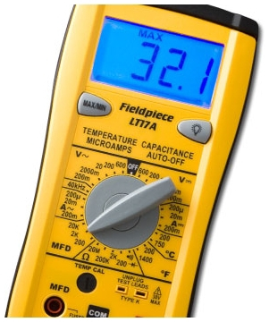 (SCRATCH & DENT) FIELDPIECE LT17A DIGITAL MULTIMETER, W/TEMPERATURE *REPAIRED AND REFURBISHED MC378352