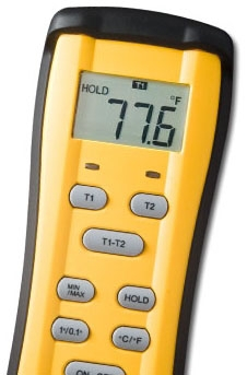 FIELDPIECE ST4 DUAL THERMOMETER W/ K TYPE PROBES MC311649