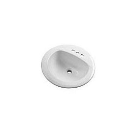 "GERBER 12-884-CH MAXWELL 19"" ROUND 4""CC LAVATORY WHITE"