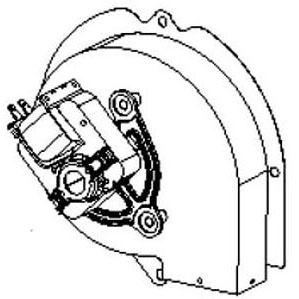 GMC 0131M00002PSP VENT MOTOR, 80+ (B4059001S) W/O SQUARE TO ROUND ADAPTER MC213646
