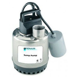 GOULDS LSP0311AT SUBMERSIBLE SUMP PUMP 1/3HP INCLUDES PIGGY-BACK REPLACEABLE FLOAT SWITCH MC7197