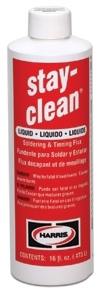 HARRIS SCLF4 STAY-CLEAN 4oz LIQUID SOLDERING & TINNING FLUX W/ FLIP TOP