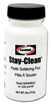 HARRIS 40027 STAY-CLEAN PASTE FLUX 4oz W/BRUSH CAP (SCPF4) (SDS #180 NOT REQUIRED DOT)