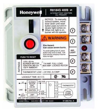 HONEYWELL R8184G4009 PROTECTORELAY 45 SEC TIMING MC8075