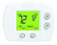 HONEYWELL TH5110D1022 FOCUSPRO 5000 NON-PROGRAMMABLE THERMOSTAT, 1H/1C, LARGE DISPLAY MC245634