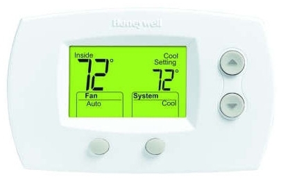 HONEYWELL TH5220D1003 FOCUSPRO 5000 NON-PROGRAMMABLE THERMOSTAT, DUAL POWER 2H/2C, HP 2H/1C MC274428