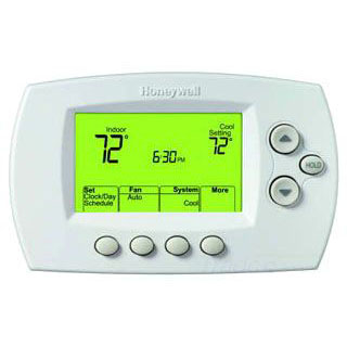 HONEYWELL TH6320R1004 WIRELESS FOCUSPRO 5-1-1 PROGRAMMABLE THERMOSTAT, UP TO 3H/2C HP, UP TO 2H/2C MS,BATTERY POWER ONLY,REDLINK ENABLED
