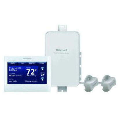HONEYWELL YTHX9421R5085WW PRESTIGE IAQ 2.0 KIT, REDLINK ENABLED, INCLUDES THX9421R5021WW HD TOUCHSCREEN THERMOSTAT, THM5421R1021 EIM & (2)50062329-001 DUCT SENSORS, COMMERCIAL OR RESIDENTIAL CONFIGURABLE (REPLACES YTHX9421R5051)