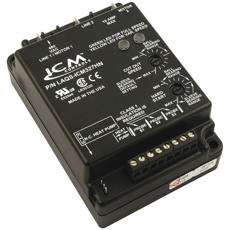 ICM CONTROLS ICM327HNC-LF LOW AMBIENT HEAD PRESSURE CONTROL, OUTPUT 480 VAC, TEMPERATURE INPUT W/HP BYPASS MC295872
