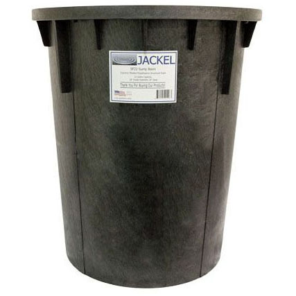 """JACKEL RADON BASIN 18"""" X 24 1-1/2"""" DISCHARGE AND 2"""" VENT  *CONSISTING OF:        #_____ SF22A BASIN (JC04A)        #_____ SF44 COVER  (JC06B01)        #_____ GASKET, BOLT PKG."""