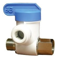 JOHN GUEST ASVPP1LF 3/8 X 3/8 X 1/4 ANGLE STOP ADAPTER VALVE (THREAD COMPRESSION X TUBE OD)