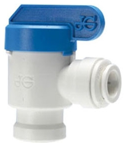 JOHN GUEST PPSV501222WP 3/8 X 1/4 ELBOW SHUT-OFF VALVE (TUBE OD X THREAD NPT)