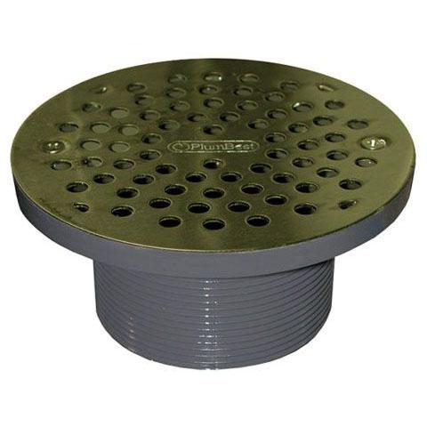 JONES D56-306 PB STRAINER W/PVC SPUD 6